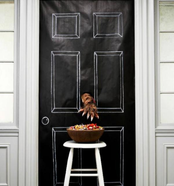 bricolage halloween déco de porte