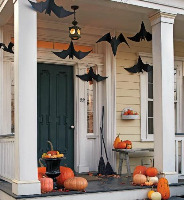 bricolage halloween déco terrasse chauves-souris
