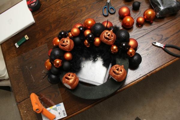 bricolage halloween diy couronne thématique