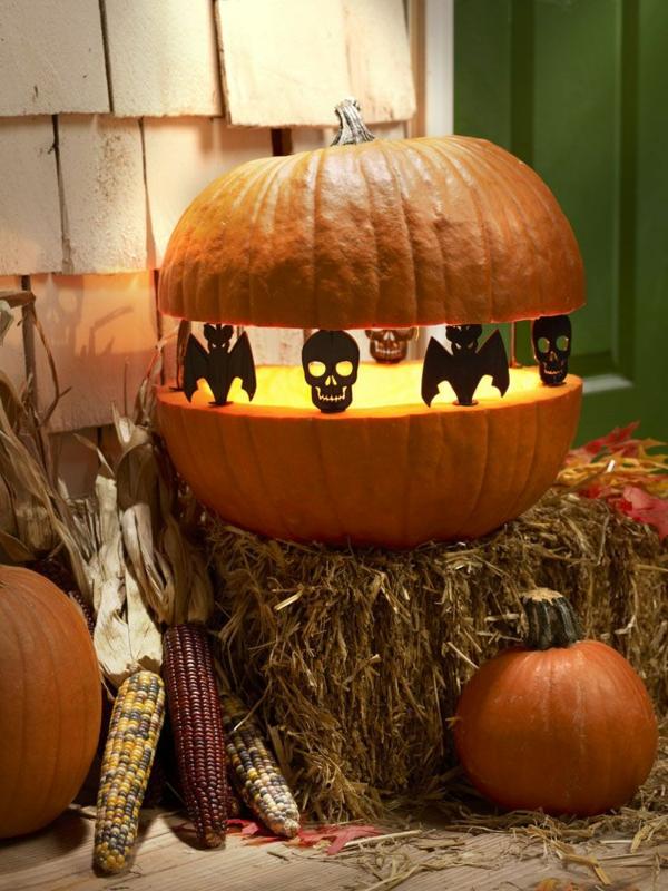 bricolage halloween lanterne en citrouille