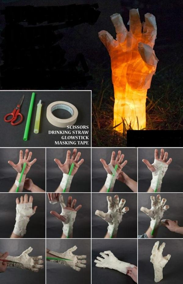 bricolage halloween main de momie