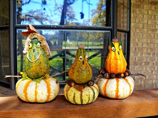 bricolage halloween monstres en citrouilles
