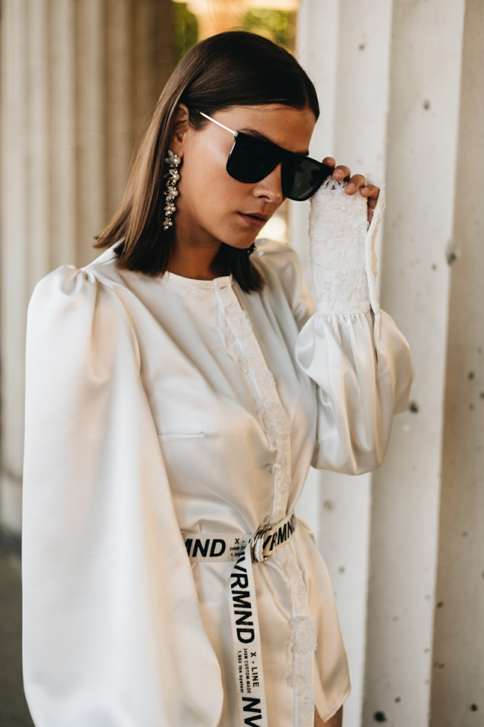 chemise blanche à manches bouffantes tendance mode 2020