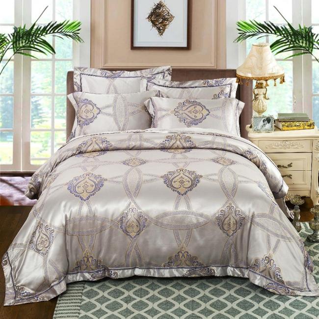 couvre-lit satin couverture brillante