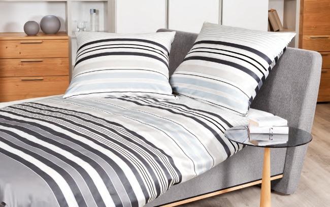 couvre-lit satin gris dominant