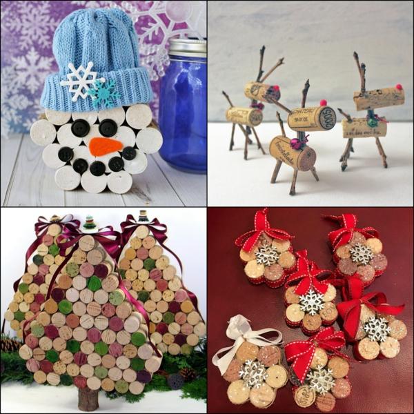 idée de décoration Noël diy symboles des fêtes faits de bouchons en liège