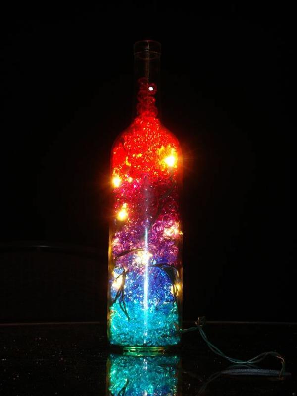 idée de décoration Noël diy avec un bouteille de vin