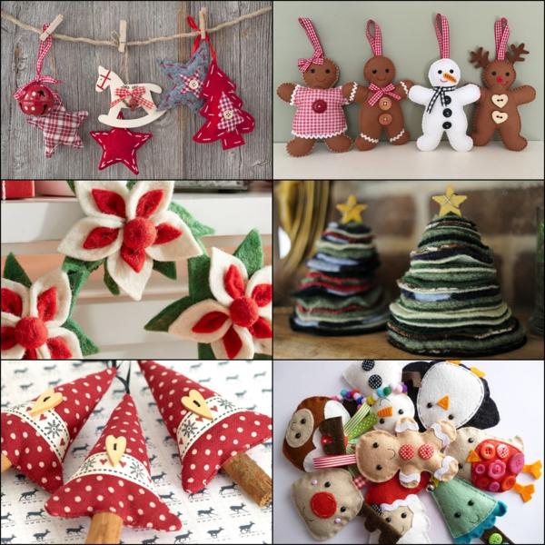 idée de décoration de Noël à fabriquer soi-même à partir de textile