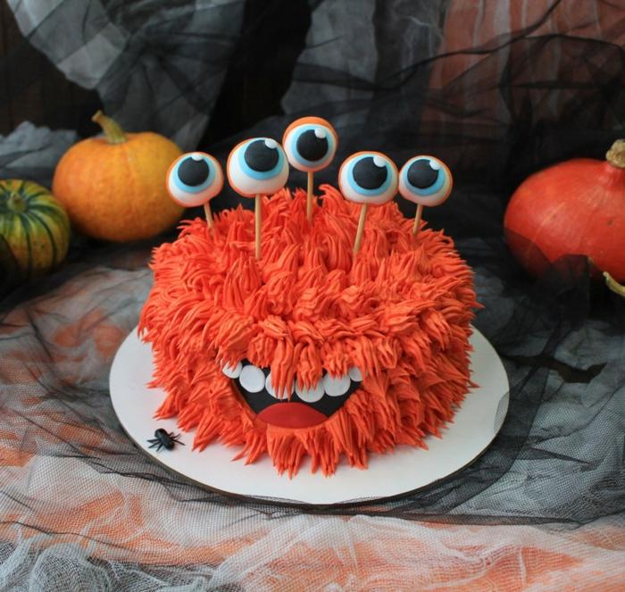 déco effrayante gâteau halloween