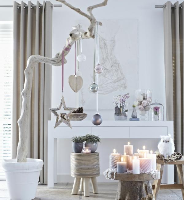 idée de décoration de noël tendance dans le style scandinave
