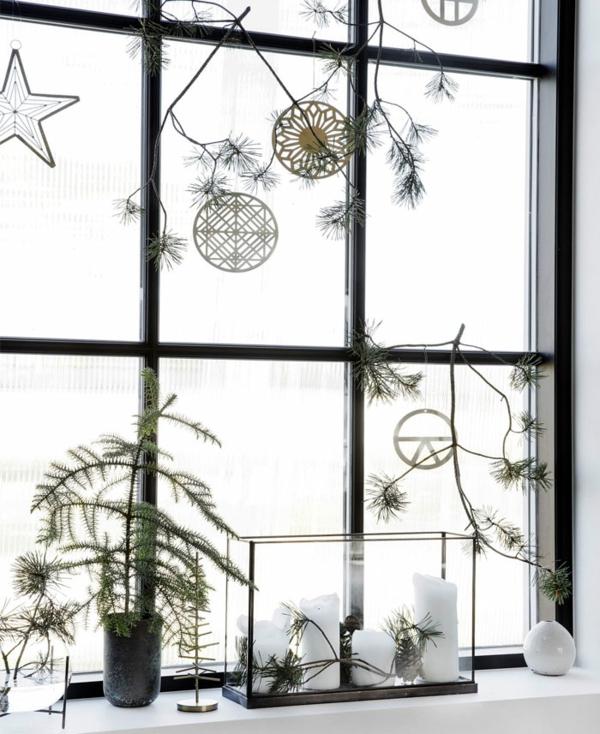 idée de décoration noël fenêtre