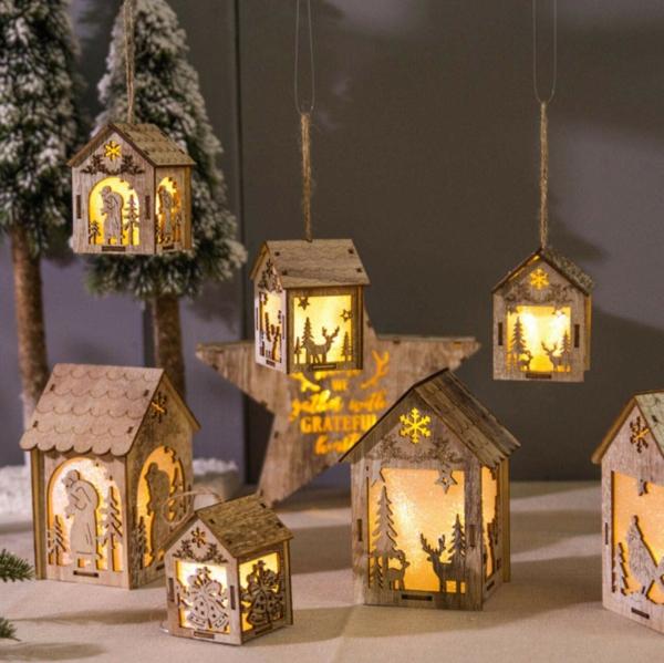 idée de décoration noël tendance lanternes de bois