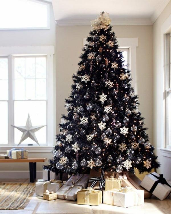 idée de décoration noël tendance sapin noir