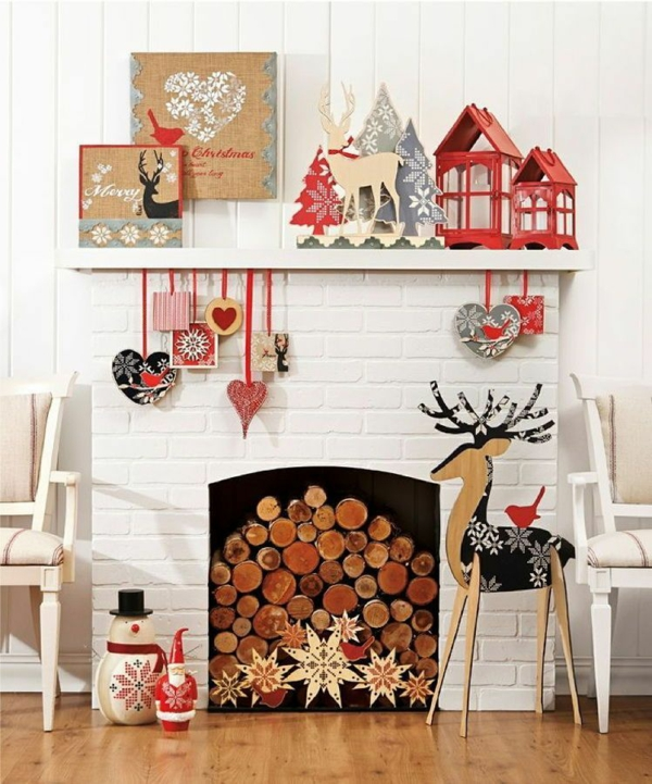 idée de décoration noël tendance objets fabriqués de bois style scandinave