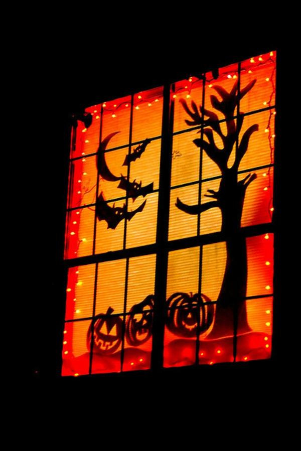 idée de décoration extérieur halloween diy déco de fenêtre en carton