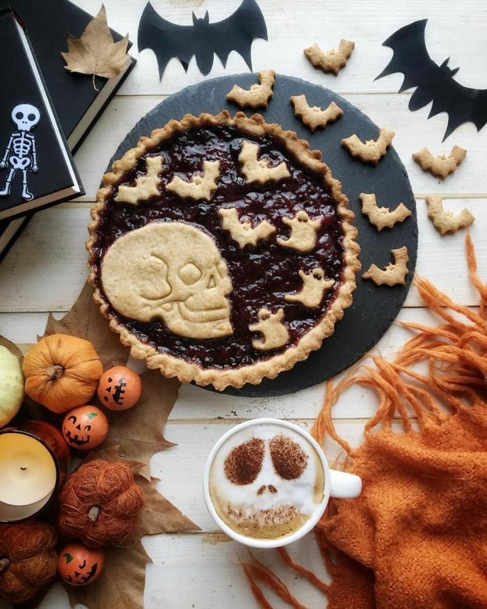 décoration tarte idée de gâteau halloween