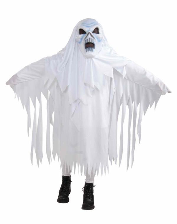 déguisement fantôme un crâne dessiné
