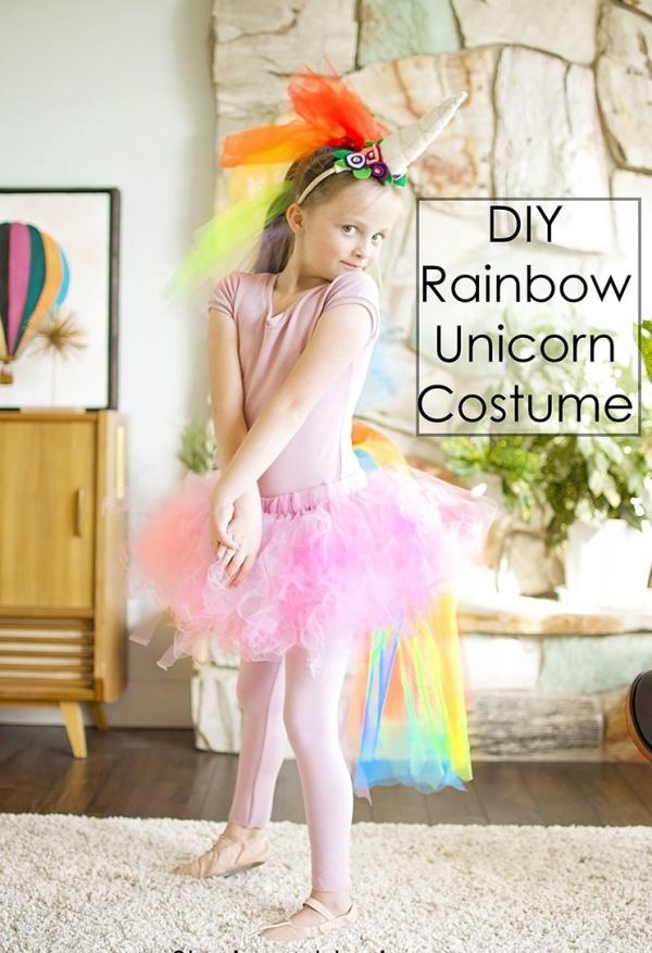 déguisement licorne costume rain-bow