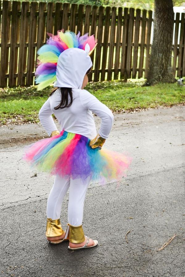 déguisement licorne tutu multicolore