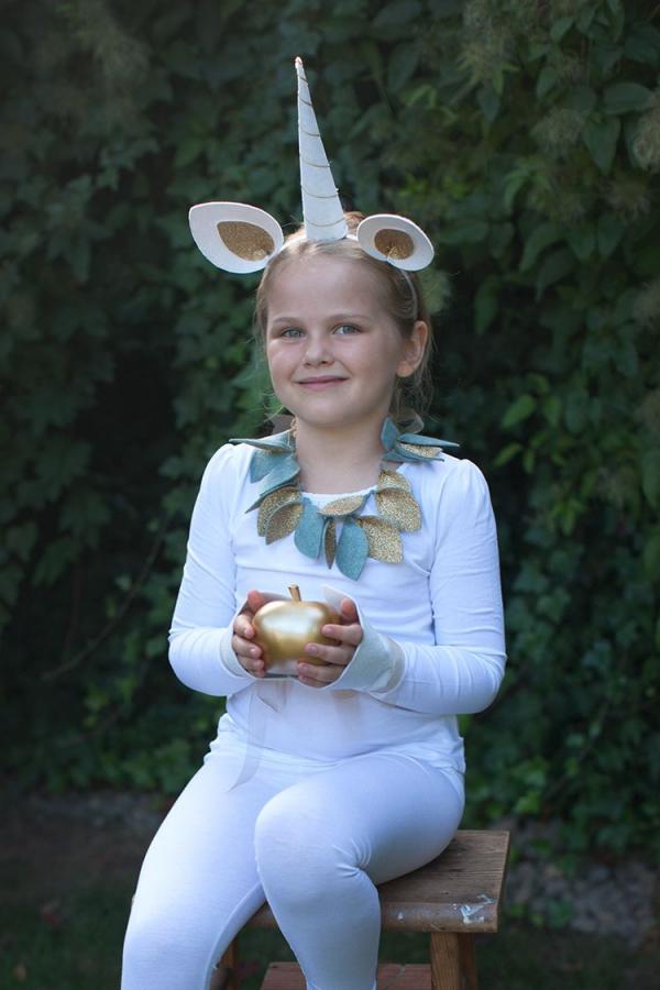 déguisement licorne un licorne blanc