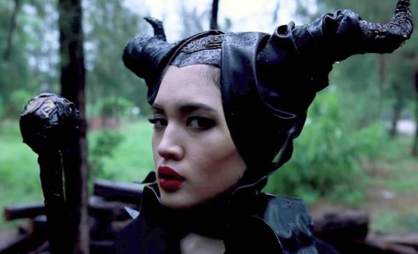 déguisement maléfique halloween diy cornes en cuir