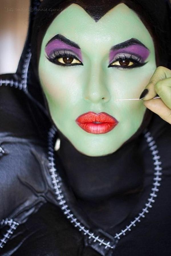 déguisement maléfique maquillage visage vert