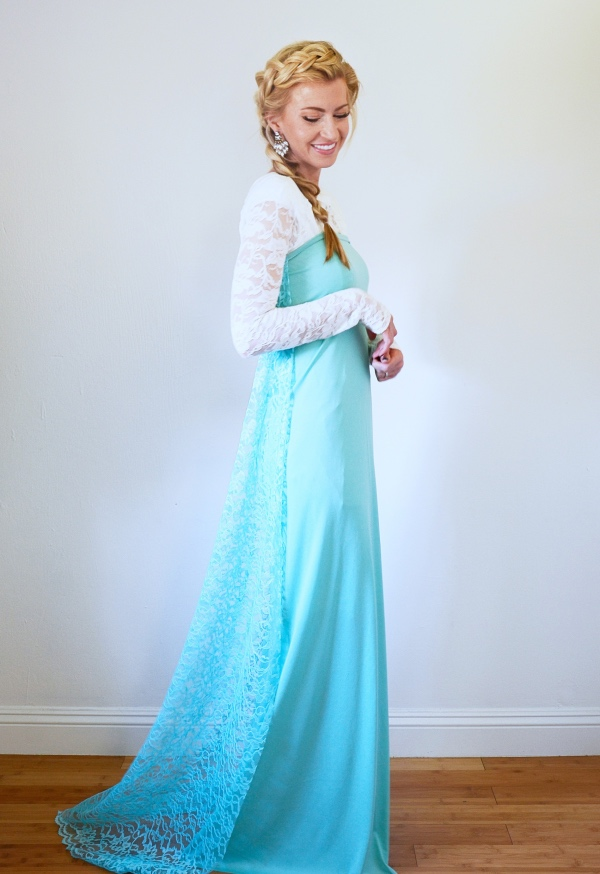 déguisement Elsa blouse dentellée