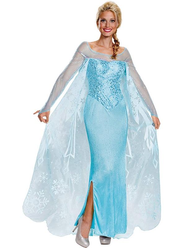 déguisement Elsa cape aux figures