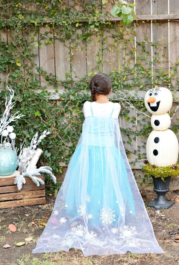 déguisement Elsa citrouille à gauche