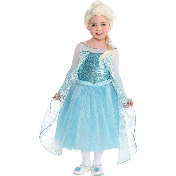 déguisement Elsa corsage de lamé
