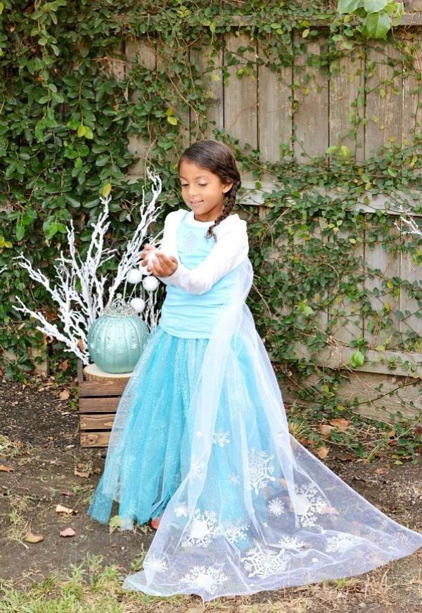 déguisement Elsa une petite princesse