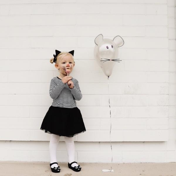 déguisement chat blouse à rayures horizontales