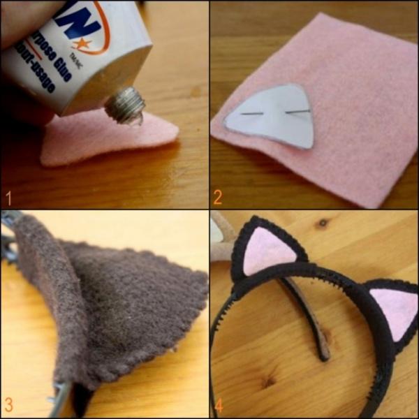 déguisement chat pour les oreilles