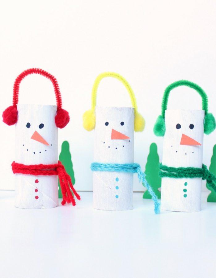 diy activités enfants bonhomme de neige en chaussette idée