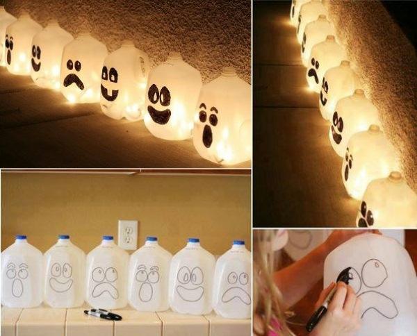 fabriquer un fantôme pour halloween de bidon
