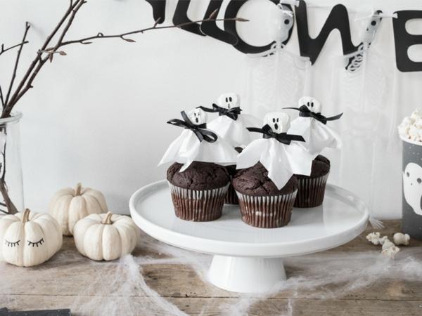 fabriquer un fantôme pour halloween en papier déco muffins