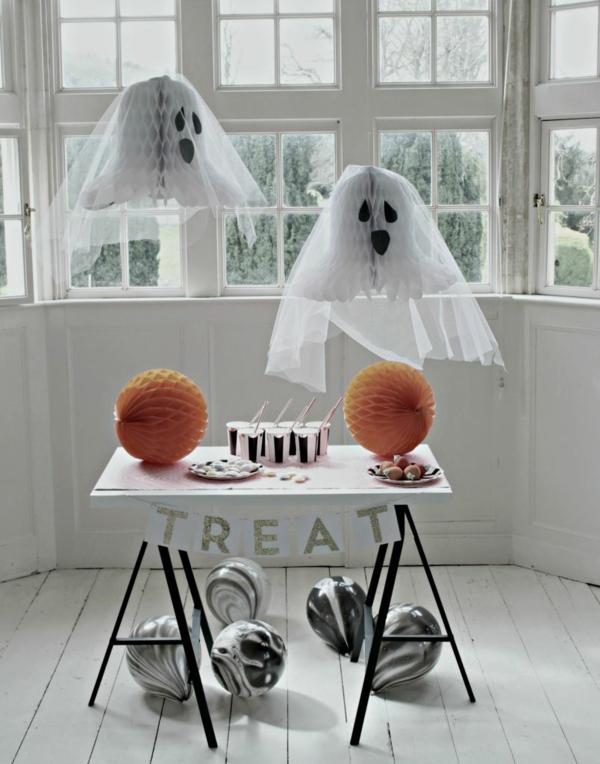 fabriquer un fantôme pour halloween lanterne de papier