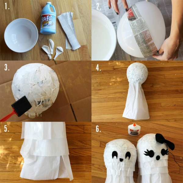 fabriquer un fantôme pour halloween pinata