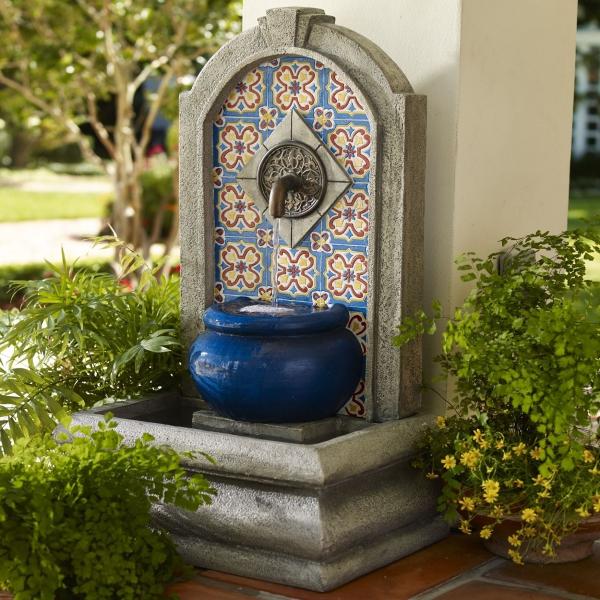 fontaine extérieure de jardin vasque en béton