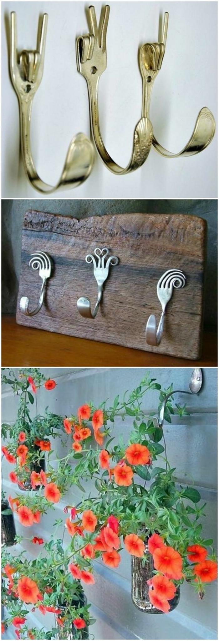fourchettes porte clés mural