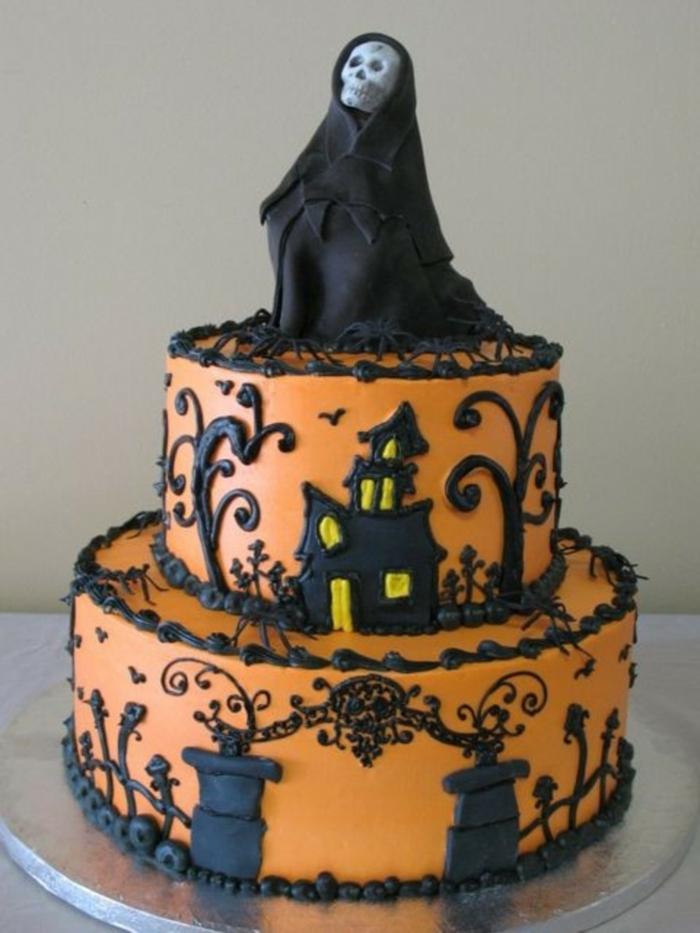 idée comment décorer les dessert pour la fête gâteau halloween