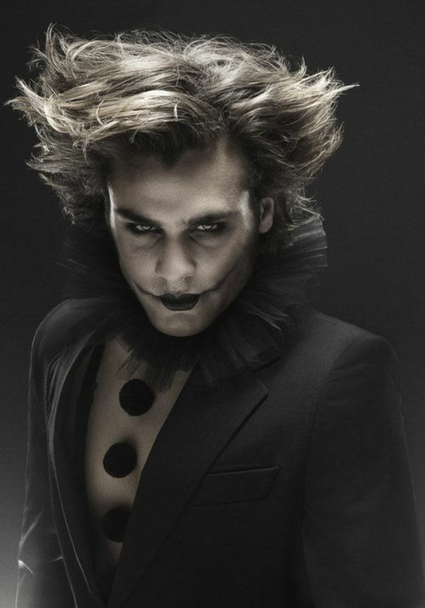 idée de maquillage halloween homme clown