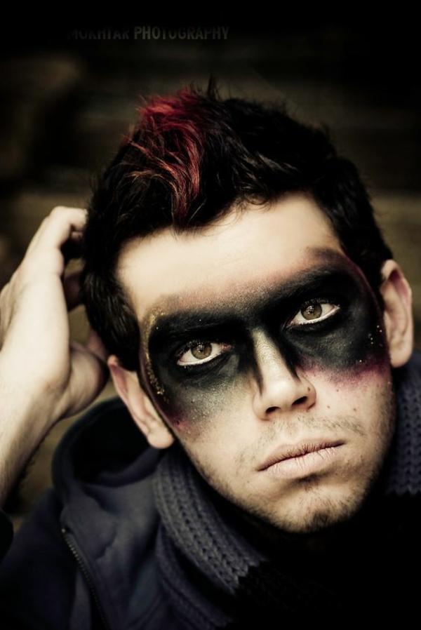 idée de maquillage halloween homme super héros