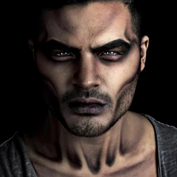 idée de maquillage halloween homme zombie