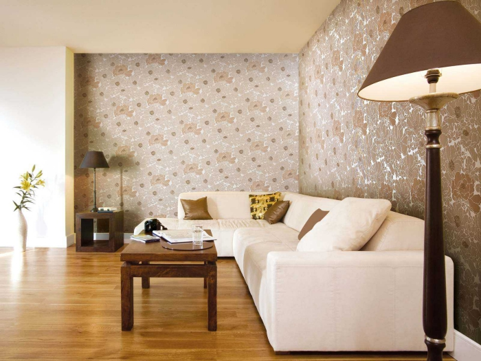 idée de salon mur peint