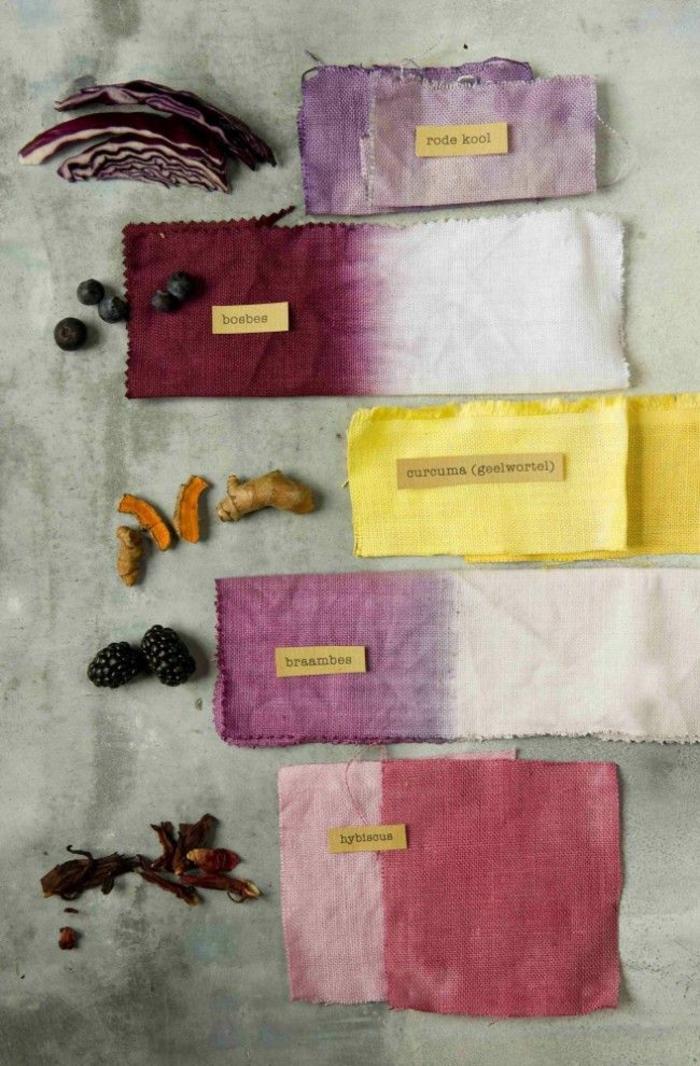 idées avec des colorants naturels tissus bienfaits du curcuma
