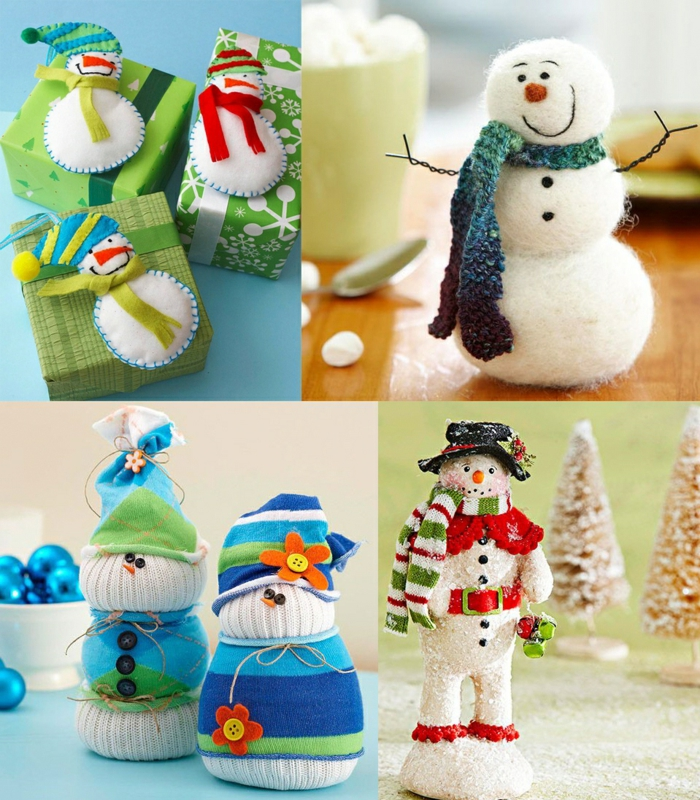 idées inspirantes pour noël bonhomme de neige en chaussette