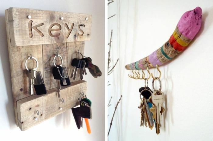 idées porte clés mural diy