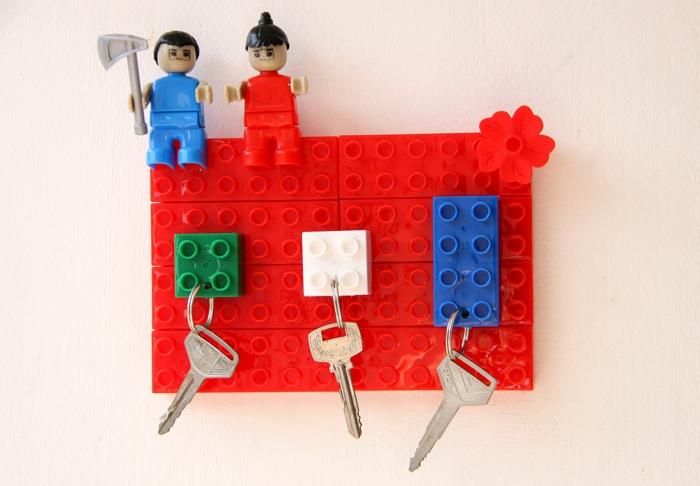 lego porte clés mural idée