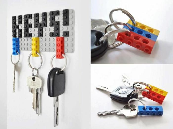 lego porte clés mural